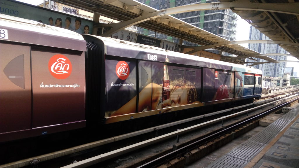 The sky train (BTS) in Bangkok